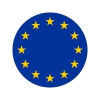 Rounded icon of flag of Europe European Flag Vector isolated with preservation of standard colors and proportions Suitable for printing websites banners illustrations
