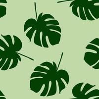 vector de patrones sin fisuras con grandes hojas tropicales verdes para web e imprimir un hermoso fondo sobre el tema de la naturaleza