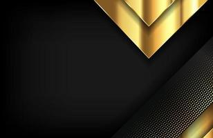 Modern layered background in gold and luxury style vector