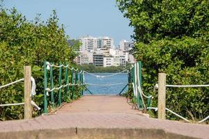 Vista de la laguna Rodrigo de Freitas en Río de Janeiro. foto