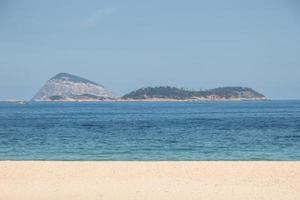 Empty Ipanema beach, during the second wave of the coronovirus pandemic in Rio de Janeiro photo