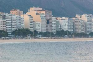 Empty Copacabana beach, during the second wave of the coronavirus pandemic in Rio de Janeiro photo