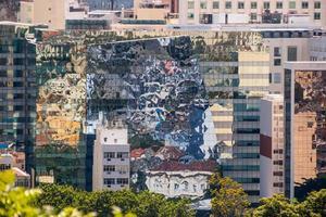 centro de río de janeiro, visto desde lo alto del barrio de santa teresa foto