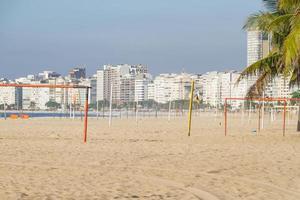 Copacabana beach empty during the second wave of coronavirus in Rio de Janeiro photo