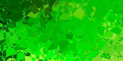Light green, yellow vector background with random forms.