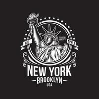 New York Vintage Emblem vector