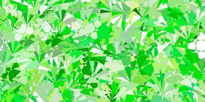 Light Green, Yellow vector texture with random triangles.