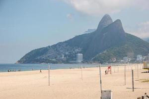 Empty Ipanema beach during the coronavirus pandemic in Rio de Janeiro photo