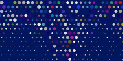 textura de vector multicolor claro con discos.