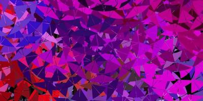 Light multicolor vector template with triangle shapes.