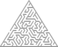 telón de fondo de vector con un laberinto 3d triangular gris, laberinto.