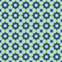 Blue seamless antique arabesque patern oriental Arabic or Moroccan ornament mosaic Can be used as bathroom tile wallpaper fabric texture background Stock vector illustration