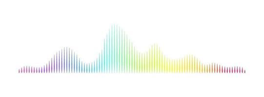 Resumen moderno tecnología de espectro de onda de sonido reproductor de audio música frecuencia de pulso canciones y bandas sonoras concepto de visualización digital stock vector ilustración aislada sobre fondo blanco