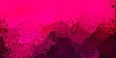 Dark Pink vector texture with random triangles.