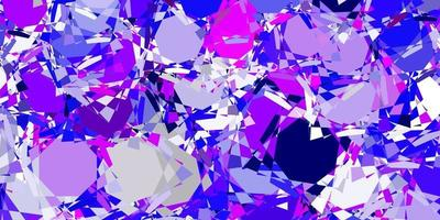 Light Pink, Blue vector texture with random triangles.