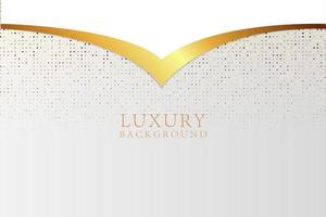 Modern abstract white luxury background vector