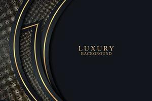 Elegant black luxury background concept with dark gold and glitter texture vector