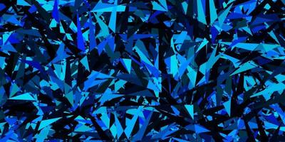 Dark Blue vector background with triangles.