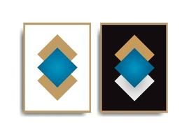 Wall Art On Canvas Abstract Gold Painting set vector