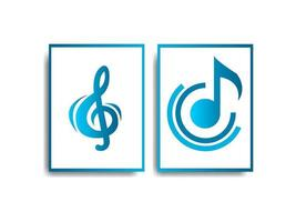 Vector music poster design White background Can be used for posters cover banners web design logos and other purposes