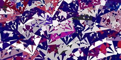 Light Pink, Red vector texture with random triangles.