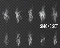 Realistic cigarette smoke waves Vector