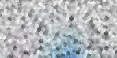 Light pink, blue vector cover with simple hexagons.