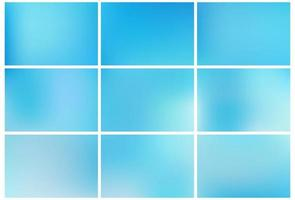 Gradient Blue abstract backgrounds set vector