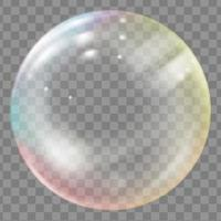 Shiny soap or water bubble vector