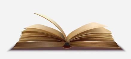 Open book on isolated background vector
