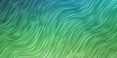 Light Blue, Green vector background with bent lines.