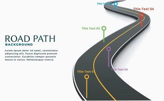 Road way location infographic template Winding Road vector