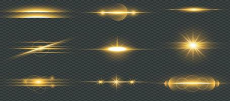 Lens Flare Set Shining Collection vector