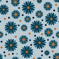 patrón de flores sin fisuras patrón de vector floral repetible de fondo