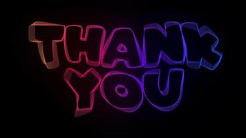 Thank You Creative Typography Text Animation with Wavy Colorful Lines video