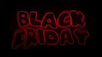 Black Friday Creative Typography Text Animation video