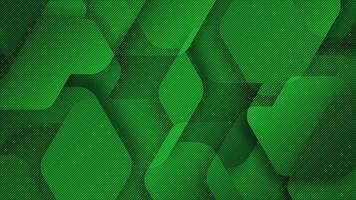 fundo de hexágonos gradiente verde moderno video