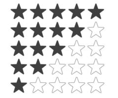 Rating review 5 star flat icon vector