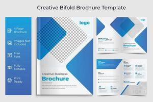 Business bi fold brochure Template Corporate  Business Concept Design vector