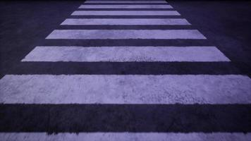 Going Over a Crosswalk at Night video