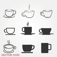Coffee Cup Icons Set vector