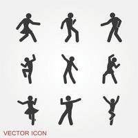 conjunto de iconos de baile vector