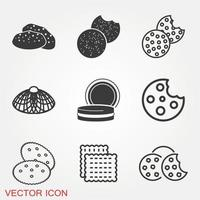 Cookie Icons Set vector