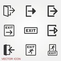 conjunto de iconos de salida vector