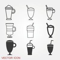 Latte Icons Set vector