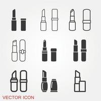 conjunto de iconos de lápiz labial vector