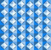 este es un patrón de cuadros geométricos azules poligonales con un rombo claro vector