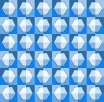 This is a polygonal blue geometric checkered pattern with a light hexagon vector