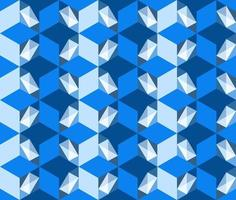 This is a polygonal blue geometric pattern with the illusion of volume vector