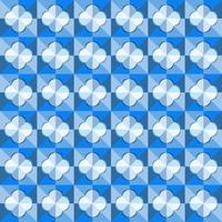 This is a polygonal blue geometric checkered pattern with a light rounded rhombus vector